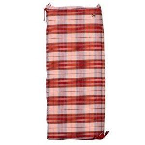 Μαξιλάρι για κούνια με φερμουάρ σε καρό κόκκινο χρώμα 138x45 εκ