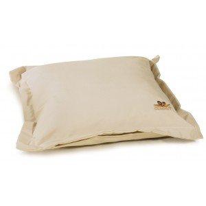 Διακοσμητικό μαξιλάρι με φερμουάρ σε εκρού χρώμα 38x38 εκ