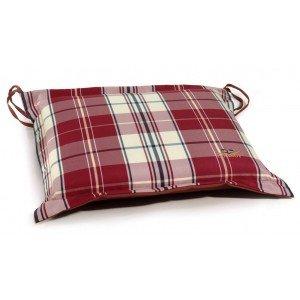 Μαξιλάρι καθίσματος καρώ με φερμουάρ αδιάβροχο 40x40 εκ
