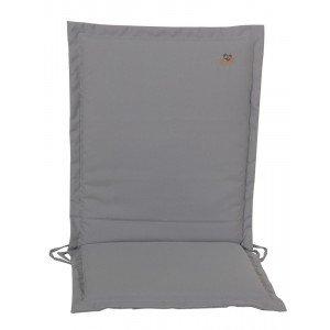 Γκρι μαξιλάρι με φερμουάρ και χαμηλή πλάτη 93x43 εκ