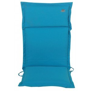Γαλάζιο μαξιλάρι με ψηλή πλάτη και φερμουάρ 114x46 εκ