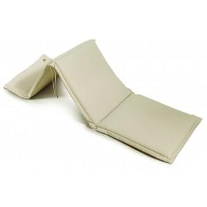 Μαξιλάρι για ξαπλώστρα με φερμουάρ σε εκρού χρώμα 196x58x6 εκ