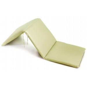 Δερματίνη μαξιλάρι για ξαπλώστρα με φερμουάρ σε εκρού χρώμα 196x60x6 εκ