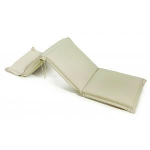 Μαξιλάρι για ξαπλώστρα με φερμουάρ 196x58x10 εκ