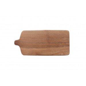 Δίσκος Σερβιρίσματος Tapas με πόδια από ξύλο teak 45x20x15 εκ