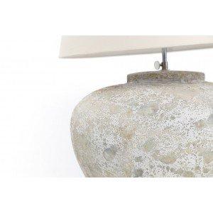 Επιτραπέζιο φωτιστικό Zimp σε λευκό και γκρι χρώμα 35x35x30 εκ