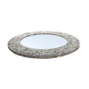 Καθρέφτης Mira ξύλινος σε κρεμ απόχρωση 120x120x4 εκ