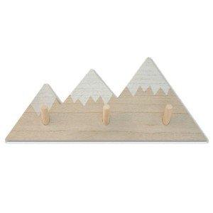 Κρεμάστρα με σχέδιο βουνό σε φυσική απόχρωση 33x14x2 εκ