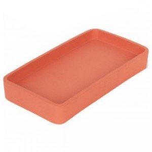 Δίσκος από τσιμέντο σε πορτοκαλί χρώμα 20x11x3 εκ