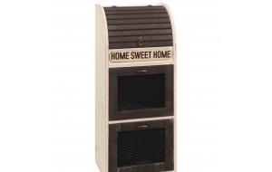 Home sweet Home συρταριέρα και ψωμιέρα με συρμάτινα ντουλαπάκι&