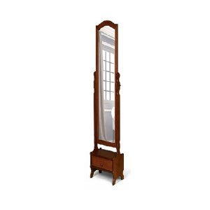 Vintage καθρέφτης με συρτάρι 45x30x170 εκ
