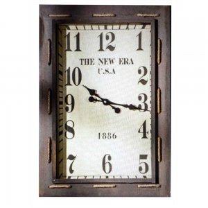 Αντικέ ρολόι τοίχου με σχοινί παραλληλόγραμμο
