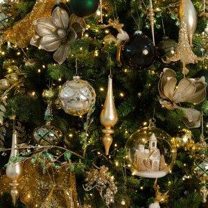 Luxury Retro ολοκληρωμένη διακόσμηση Χριστουγεννιάτικου δέντρου με 144 στολίδια