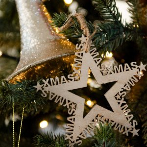 Christmas Music Star ολοκληρωμένη διακόσμηση Χριστουγεννιάτικου δέντρου με 60 στολίδια