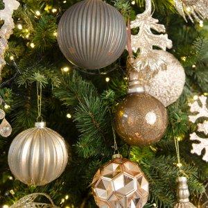 Peacock ολοκληρωμένη διακόσμηση Χριστουγεννιάτικου δέντρου με 100 στολίδια