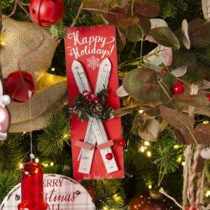 Rustic Nostalgic ολοκληρωμένη διακόσμηση Χριστουγεννιάτικου δέντρου με 120 στολίδια