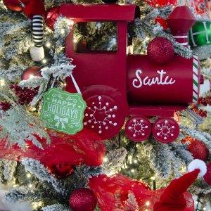Παιδικό Όνειρο Santa s Workshop ολοκληρωμένη διακόσμηση Χριστουγεννιάτικου δέντρου με 100 στολίδια
