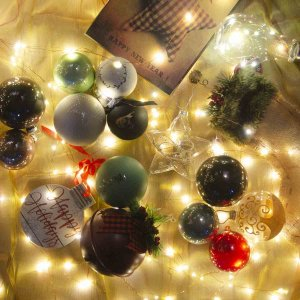 Retro ολοκληρωμένος στολισμός Χριστουγεννιάτικου δέντρου 110 τεμαχίων