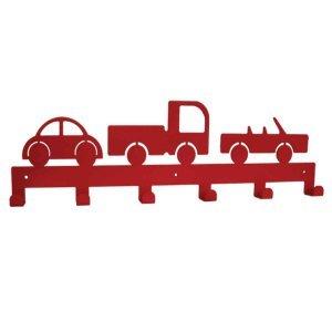 Διακοσμητική μεταλλική κρεμάστρα έξι θέσεων  με αυτοκίνητα 51x2x14 εκ