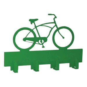 Διακοσμητική κρεμάστρα με ποδήλατο σε δύο χρώματα 30x4x20 εκ