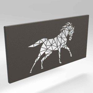 Μεταλλικό κάδρο τοίχου με άλογο σε τρία χρώματα 50x2x25 εκ