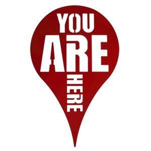 Διακοσμητικό τοίχου You are Here σε δύο χρώματα 30x50 εκ