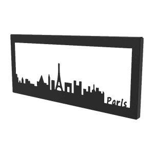 Μεταλλικό διακοσμητικό κάδρο τοίχου Paris Skyline 35x2x15 εκ