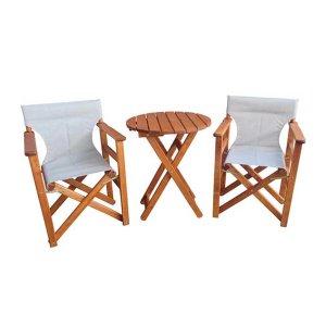 Σετ τριών τεμαχίων coffee set με δύο καρέκλες και ένα τραπεζάκι