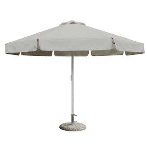 Ομπρέλα κήπου αλουμινίου στρογγυλή εκρού 300 εκ