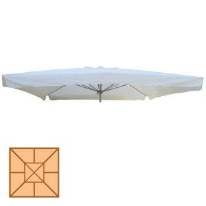 Τετράγωνο ανταλλακτικό πανί ομπρέλας με αεραγωγό και βολάν 300x300 εκ