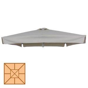 Αδιάβροχο τετράγωνο ανταλλακτικό πανί εκρού 300x300 εκ