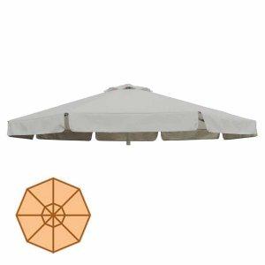 Αδιάβροχο στρογγυλό ανταλλακτικό πανί ομπρέλας εκρού 300 εκ