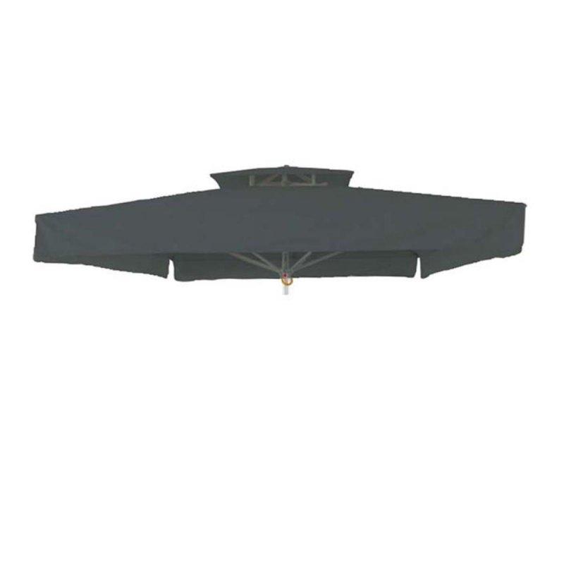 Γκρι ανταλλακτικό πανί ομπρέλας αδιάβροχο τετράγωνο 350x350 εκ