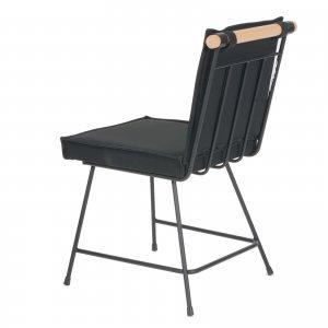 Funky-K Καρέκλα με μεταλλικό σκελετό και μαξιλάρια