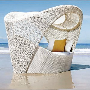 Cocoon Daybed classic white wicker