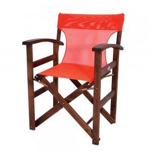 Πολυθρόνα σκηνοθέτη από ξύλο οξυάς με κυρτά μπράτσα