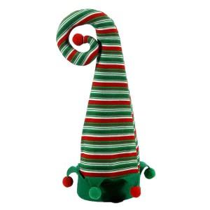 Διακοσμητικό χριστουγεννιάτικο καπέλο ξωτικού σε πράσινο χρώμα 46 εκ