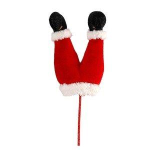 Χριστουγεννιάτικο διακοσμητικό πόδια Άγιου Βασίλη 26 εκ