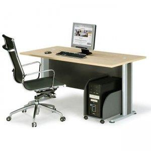 Basic γραφείο σκούρο πράσινο και οξυά 180x80 εκ.