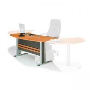 Γραφείο executive σε σκούρο γκρι και κερασί χρώμα 180x80 εκ.