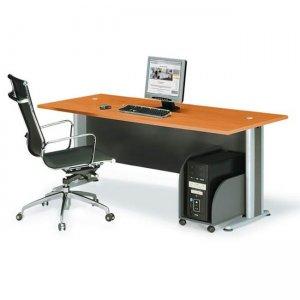 Γραφείο basic σε σκούρο γκρι και κερασί χρώμα 180x80 εκ.