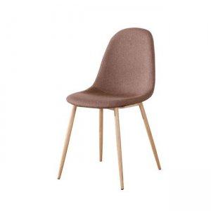 Celina καρέκλα μεταλλική με ύφασμα καφέ