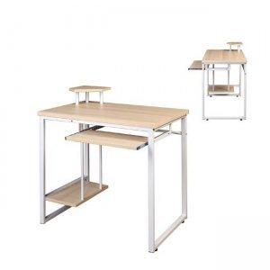Γραφείο μεταλλικό λευκό με mdf οξυά 85x55x76 εκ.