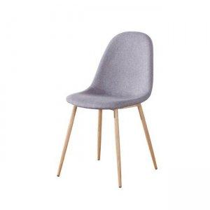 Celina καρέκλα μεταλλική με ύφασμα γκρι