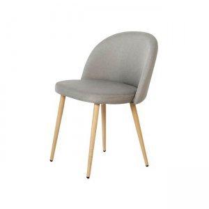 Bella καρέκλα μεταλλική με βαφή φυσικό με ύφασμα sand grey