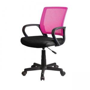Πολυθρόνα ροζ μαύρο mesh