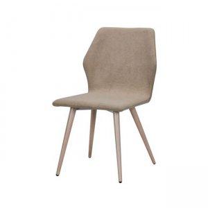 Leto καρέκλα μεταλλική με βαφή φυσικό με ύφασμα ανοικ&t