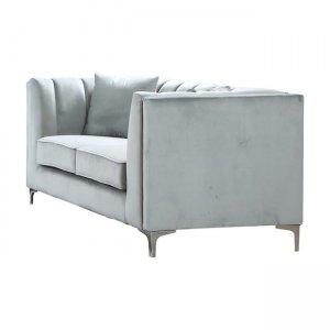 Parson καναπές διθέσιος με ύφασμα ανοικτό πράσινο velure