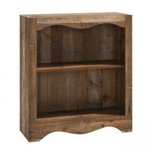 Βιβλιοθήκη ξύλινη με ένα ράφι στη μέση και καφέ αντικέ χρ