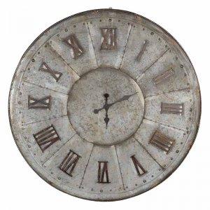 Ρολόι τοίχου vintage μεταλλικό Brass σε γκρι απόχρωση